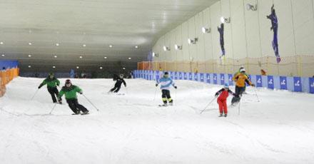 室内滑雪场